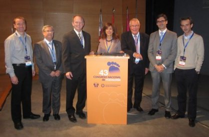 2012, National Spanish Podiatry Congress, with Dr Kevin Kirby, Prof Benno Nigg and others.
