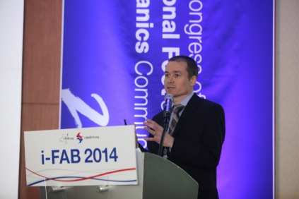 Unpicking the biomechanics of foot orthoses during a keynote lecture at iFAB 2014, South Korea