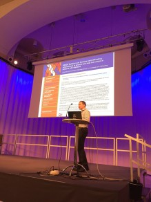 Speaking to an O&P audience about orthoses for the diabetic foot, Stockholm 2017.