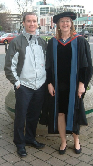 First of my PhD students to graduate, Physiotherapist Dr Brigitte Toro (2004).