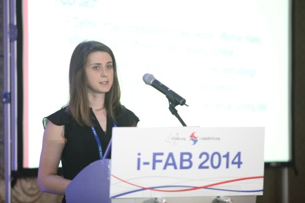 Dr Carina Price at 2014 iFAB in South Korea