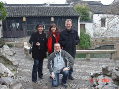 With Dr Anita Williams and Prof Dave Howard in Shanghai