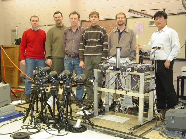 me, Dr Jay Cocheba, Prof Dave Howard, Dr Erin Ward, Dr Tim Derrick and Dr Anmin Liu, collaboration at Iowa State University during 2003-2007