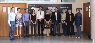 Kick off meeting for SOHEALTHY EU project, 2012, Alicante, Spain. With Dr Dan Parker and Dr Carina Price. (second to my left)