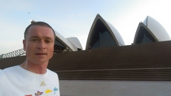 Early morning run around Sydney opera house, 2016. Cleared the cobwebs before three lectures!.