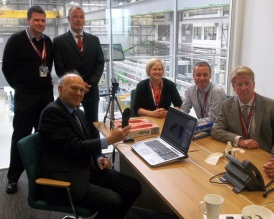 With the then UK Minister for Business, Vince Cable, with 3D printing partners.