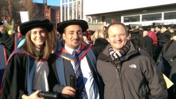Graduation for Dr Carina Price, with colleague Professor Richard Jones
